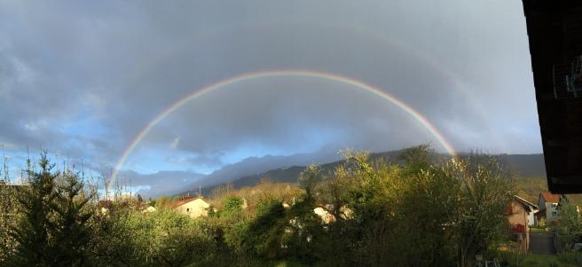 rainbow over the Jura